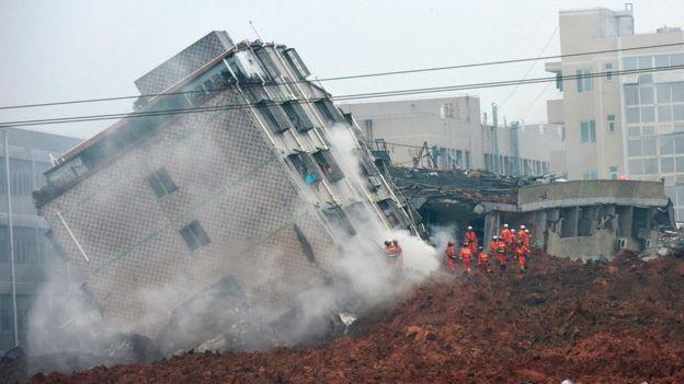 Dozens Missing After Landslide in Shenzhen