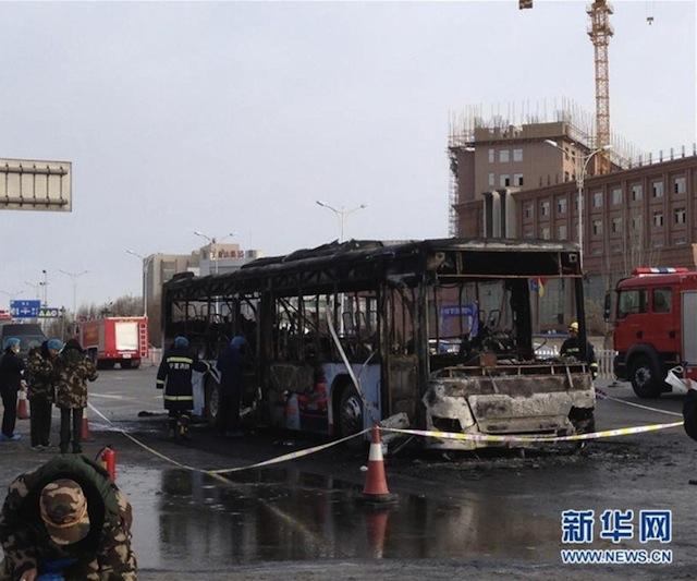 Minitrue: Suspected Bus Arson in Ningxia Kills 17