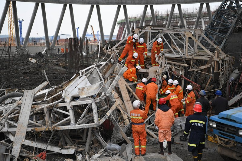 9 Detained After Jiangxi Construction Collapse