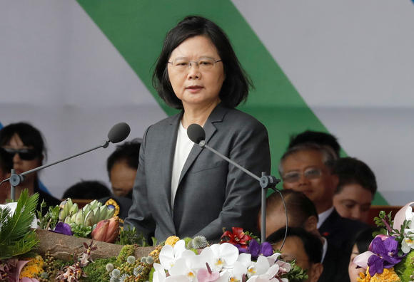President Tsai Vows to Defend Taiwan's Democracy