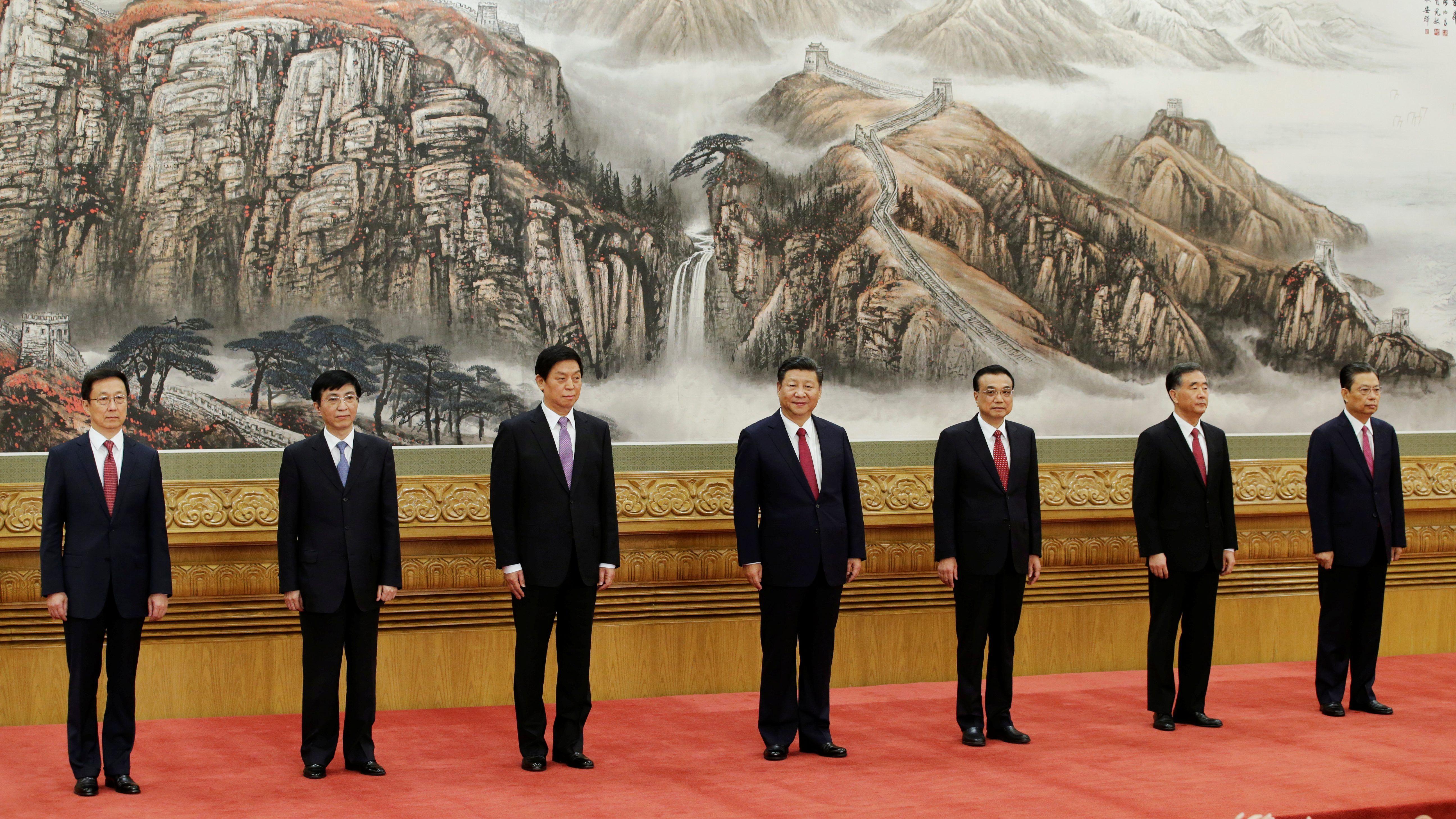 """Hidden Ruler"" Wang Huning Steps Onstage"