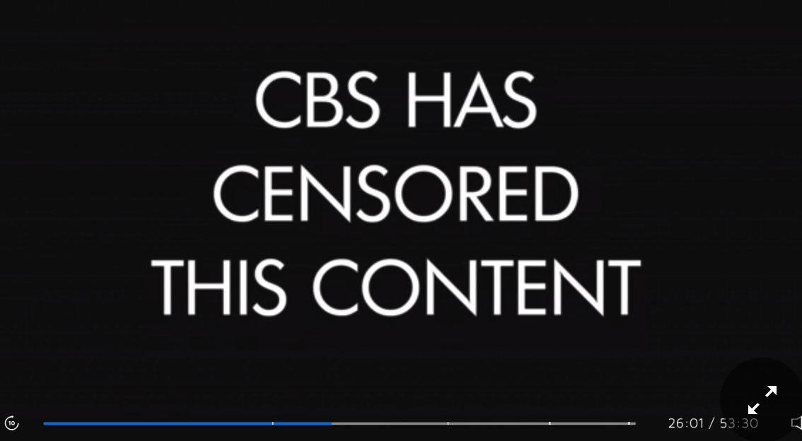 CBS Censors Reference to Chinese Censorship