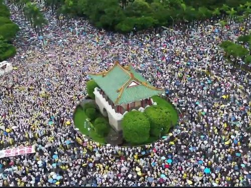 Thousands Protest Chinese Media Influence in Taipei