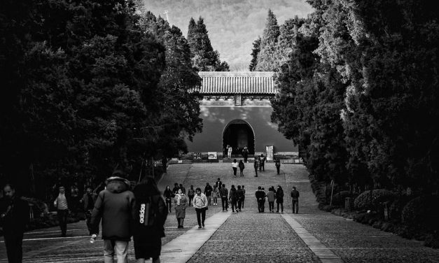 Photo: The long walk to filial piety, by Dickson Phua