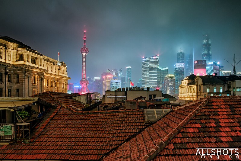 Photo: Shanghai From a Window in the Hostel, by Marek