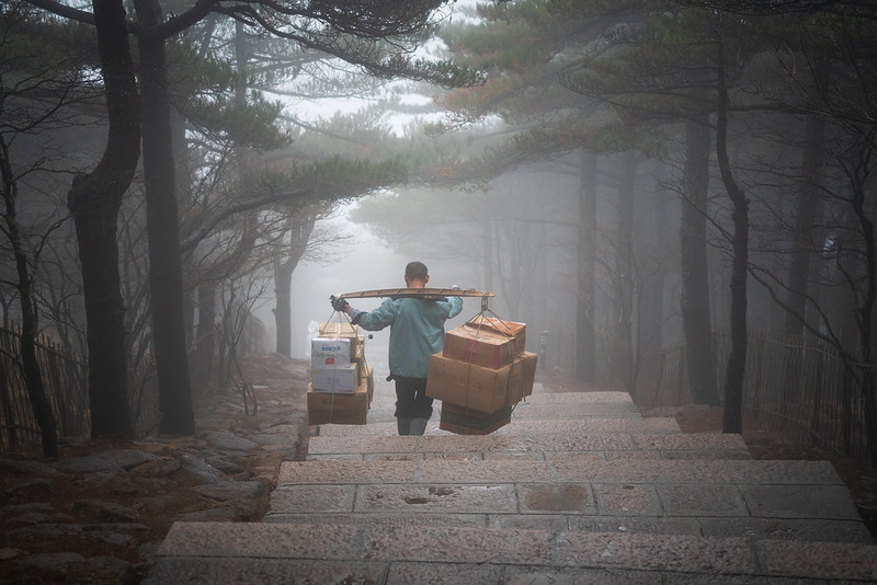 Photo: The Porters of Mt Huangshan, by Alex Berger