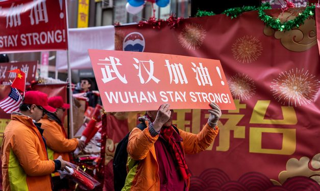 Photo: Wuhan Stay Strong! (Chinatown, NYC), by Nestor Galina