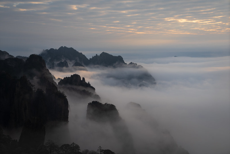 Photo: Sunset on Mt. Huangshan, by Alex Berger