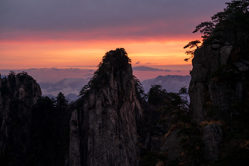 Photo: First Light – Sunrise on Yellow Mountain, by Alex Berger