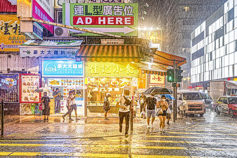 Photo: Rainy night at Monk Kok, Hong Kong, by johnlsl
