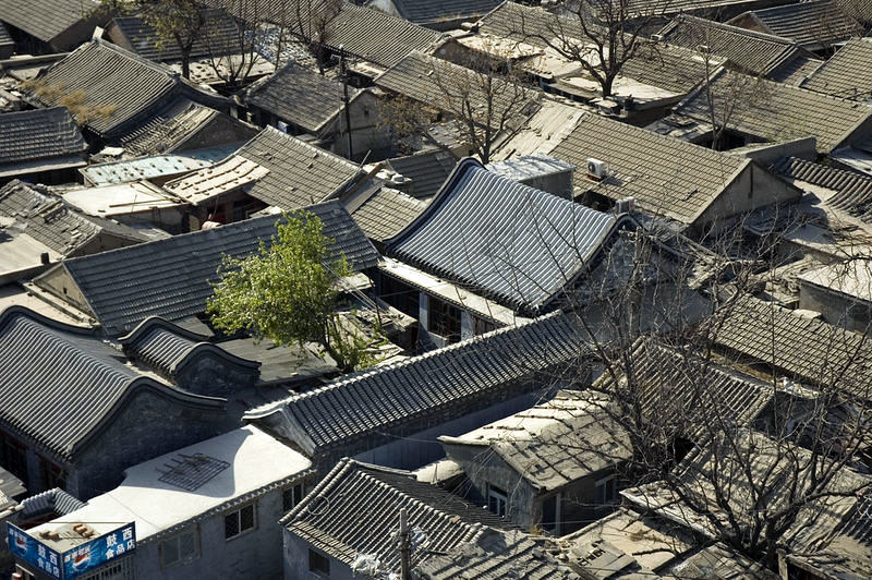 Photo: Hutongs from the Drum Tower, Beijing, by Larry Koester