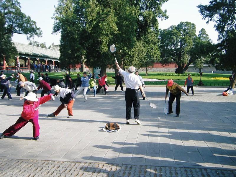 Photo: Tai Chi vs Badminton, by Hugh Llewelyn