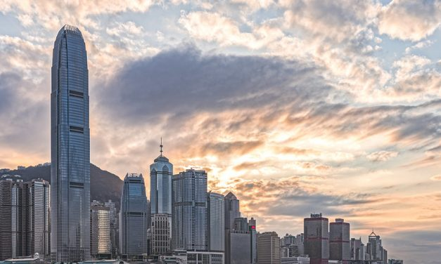 Photo: Sunset at Central, Hong Kong, by johnlsl