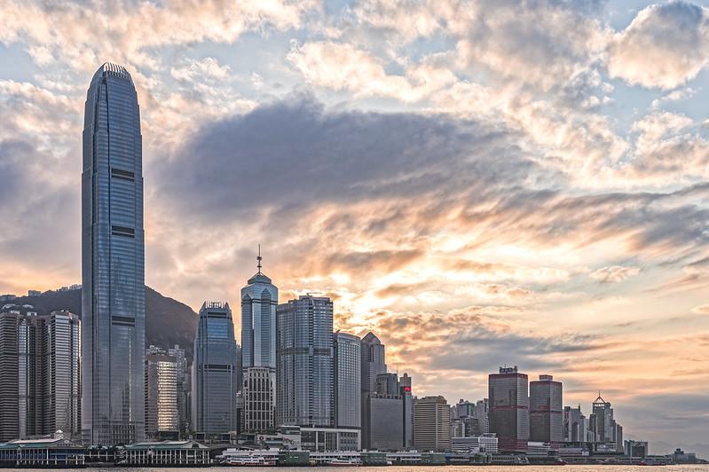 Photo: Sunset at Central, Hong Kong, by johnlsl