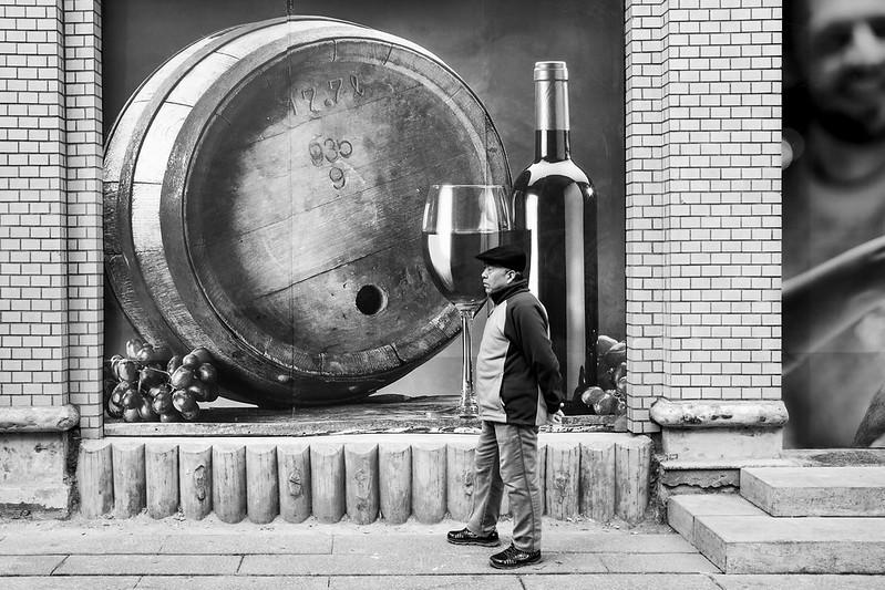 Photo: Man & wine, by Gauthier DELECROIX