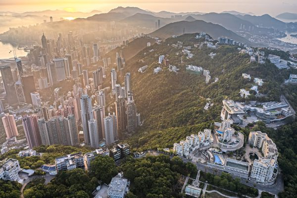 Photo: Sunrise at the Peak, Hong Kong, by johnlsl