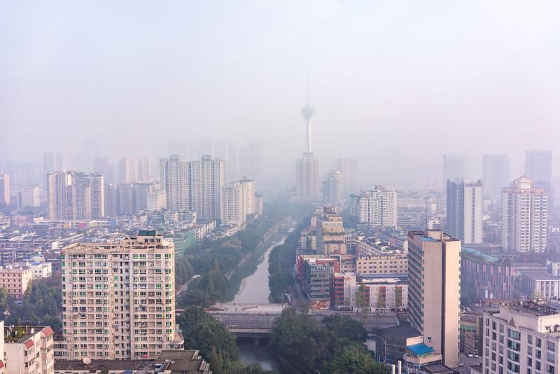 Photo: Fog in Chengdu 成都, China, by Kristoffer Trolle