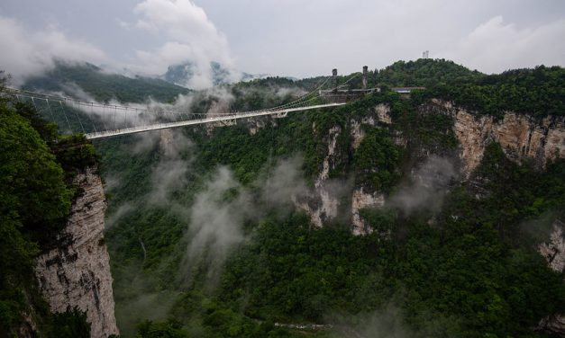 Photo: Avatar Mountains (with suspension bridge), by Mark Chivers
