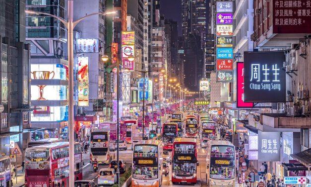 Photo: Night at Mong Kok, Hong Kong, by johnlsl
